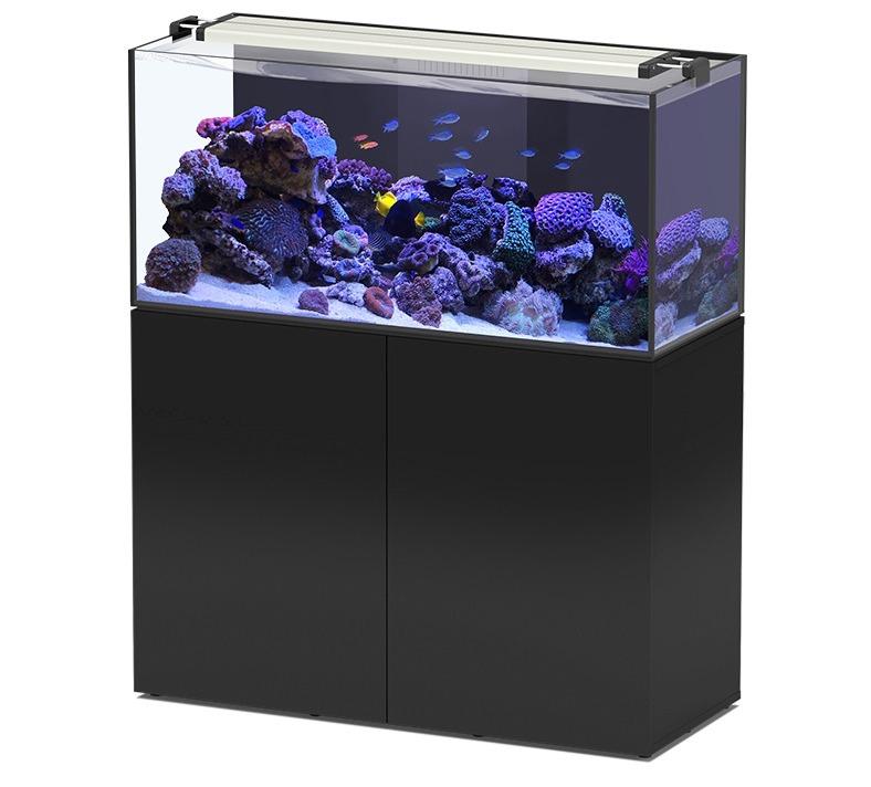 AQUATLANTIS AquaView 120 Eau de Mer aquarium 330 L avec meuble Noir