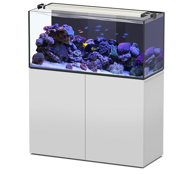 AQUATLANTIS AquaView 120 Eau de Mer aquarium 330 L avec meuble Blanc