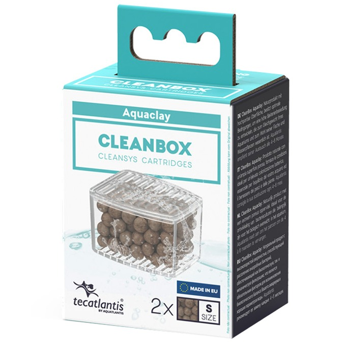 AQUATLANTIS CleanBox S lot de 2 recharges AquaClay pour filtre interne CleanSys 200, 200+ et 300