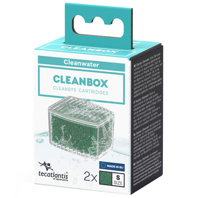 AQUATLANTIS CleanBox S lot de 2 recharges ClearWater pour filtre interne CleanSys 200, 200+ et 300