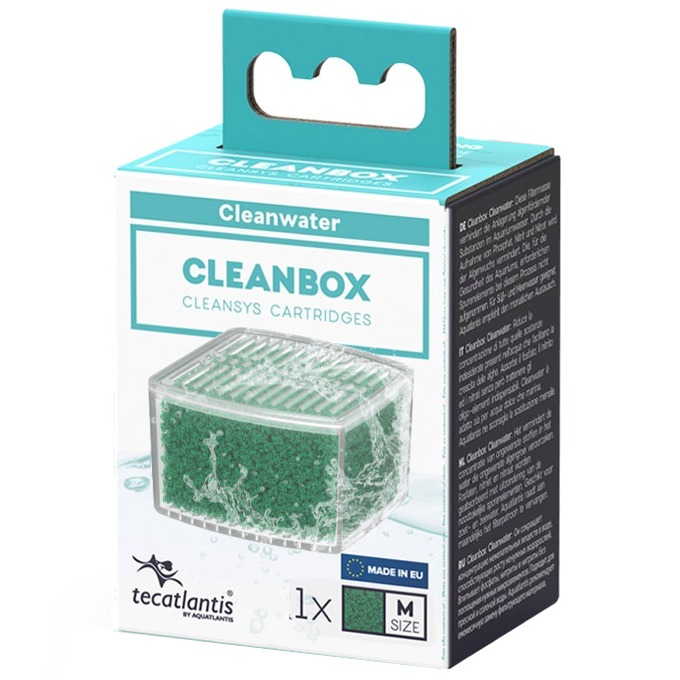 AQUATLANTIS CleanBox M recharge ClearWater pour filtre interne CleanSys 600 et 900