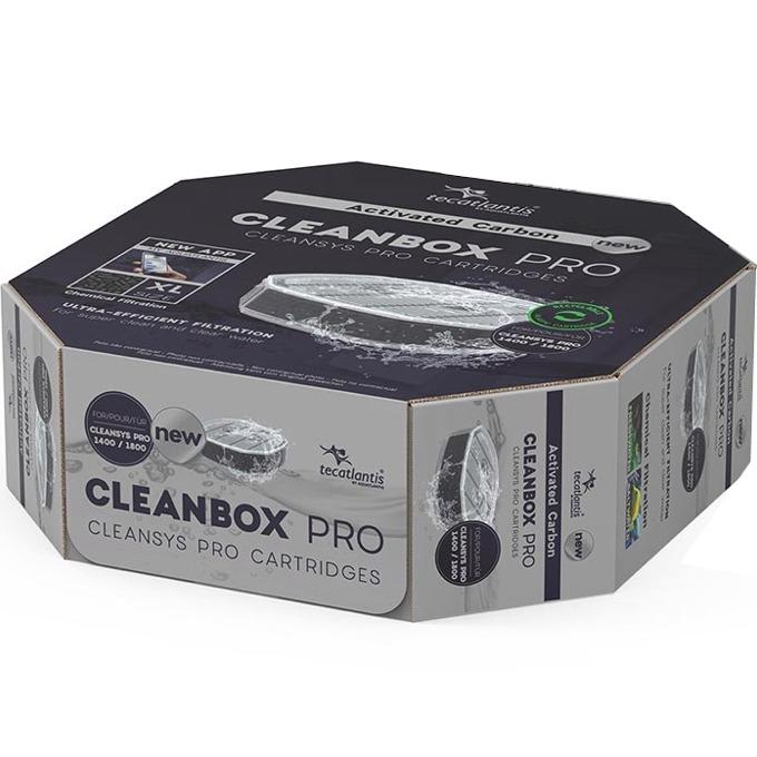 AQUATLANTIS CleanBox Pro XL recharge Charbon Actif pour filtre externe CleanSys PRO 1400 et 1800