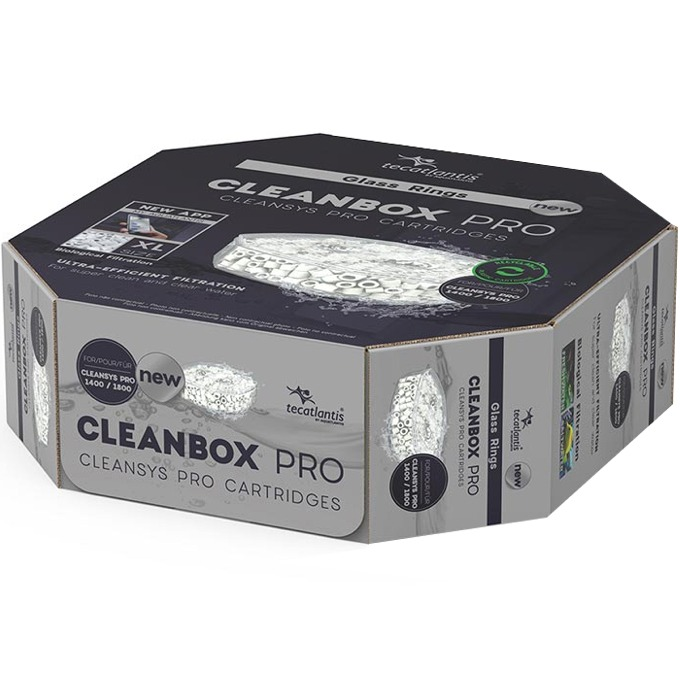 AQUATLANTIS CleanBox Pro XL recharge Glass Rings pour filtre externe CleanSys PRO 1400 et 1800