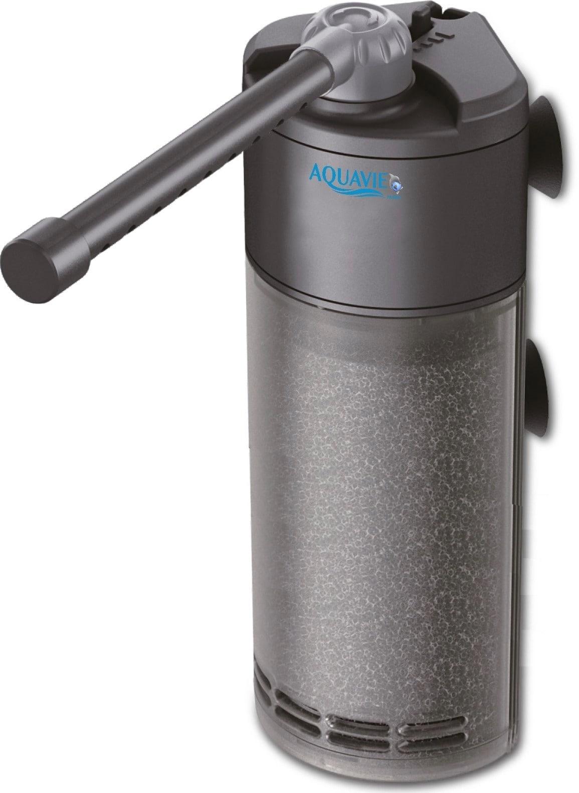 AQUAVIE V600 filtre d\'angle interne 400 L/h pour aquarium de 50 à 100 L
