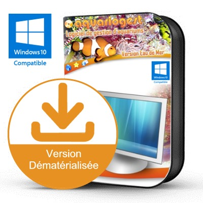 AQUARIOGEST Eau de mer version 4.10 logiciel complet de gestion d'aquariums