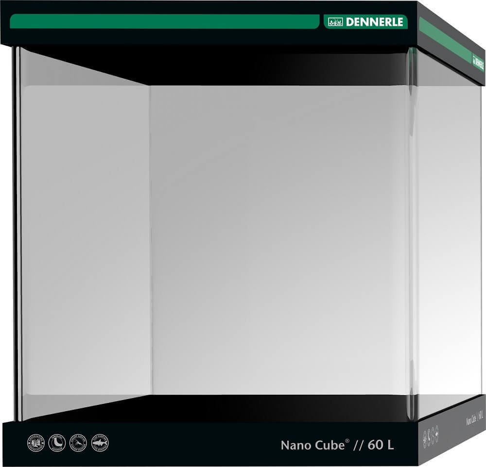 DENNERLE Nano Cube 60 L cuve nano-aquarium nue dimensions 38 x 38 x 43 cm