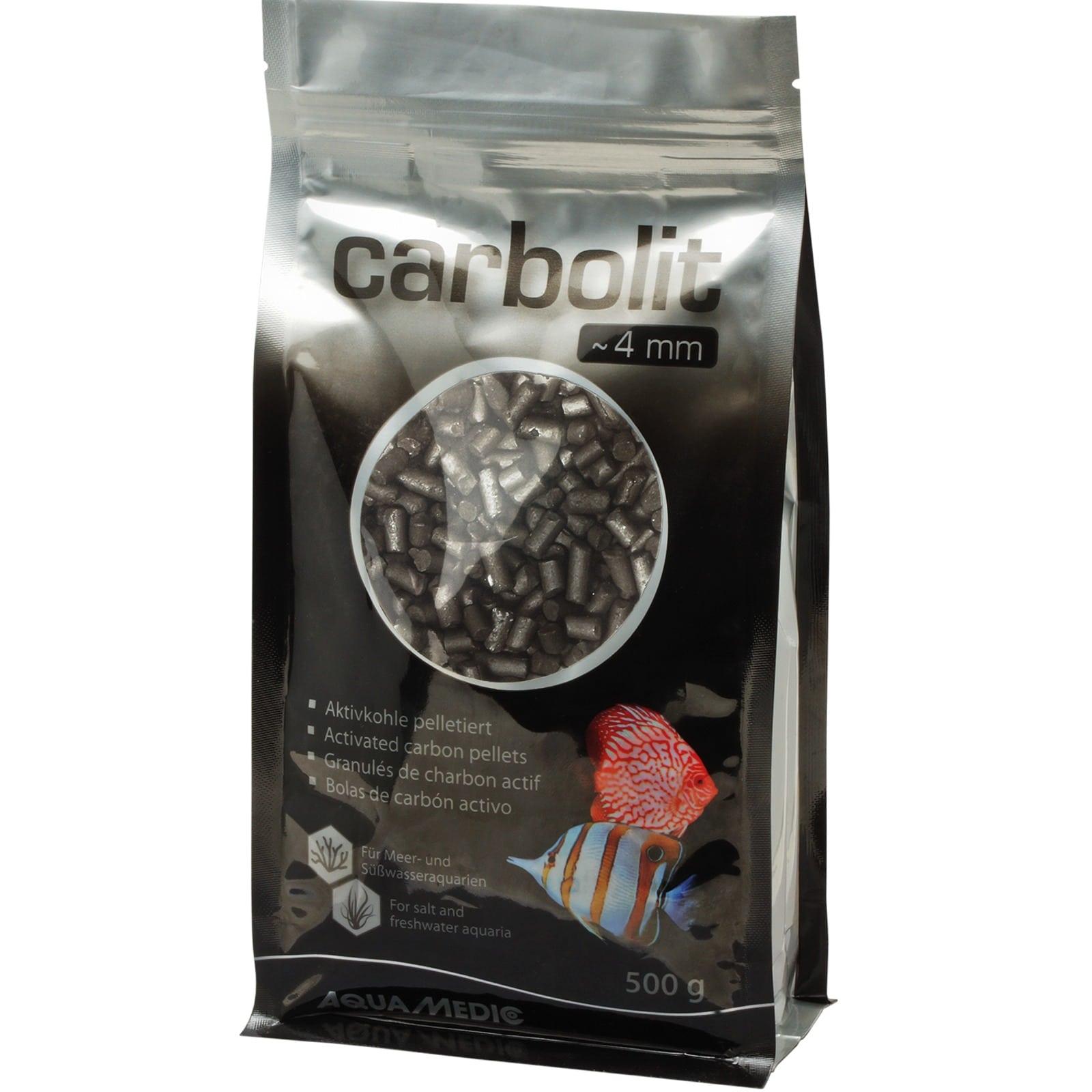 AQUA MEDIC Carbolit 500 gr. granulés de charbon actif diamètre 4 mm pour les aquariums d\'eau douce et d\'eau de mer
