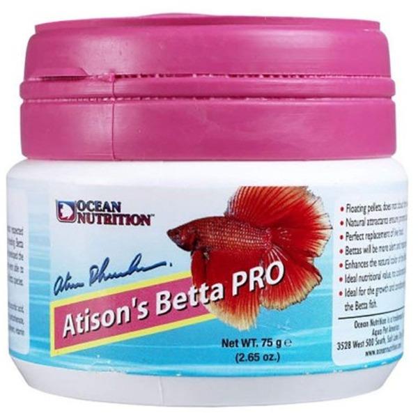 OCEAN NUTRITION Atison\'s Betta Pro 75 gr nourriture en granulés spéciale croissance et conditionnement pour Combattant