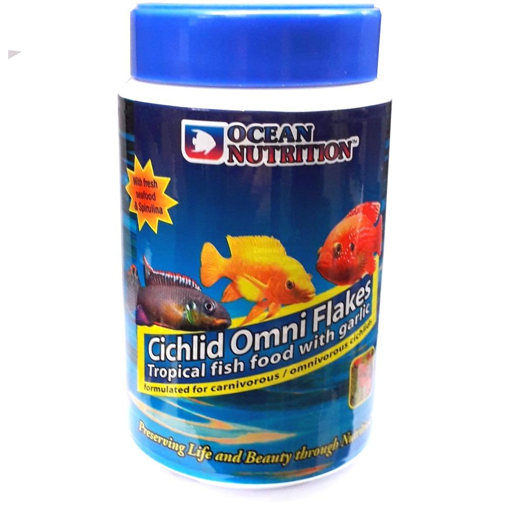 OCEAN NUTRITION Cichlid Omni Flocons 156 gr. nourriture pour Cichlidés omnivores comme les Scalaires, Discus et autres Ciclidés d\'Amérique du Sud