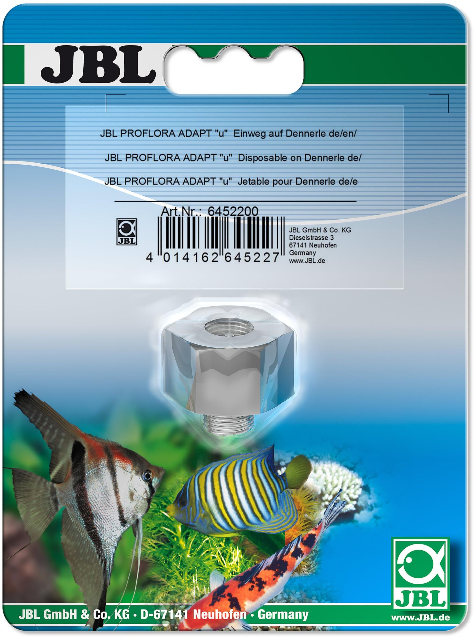 JBL Proflora Adapt U pour utiliser une bouteille 500 gr jetable JBL sur un détendeur Dennerle