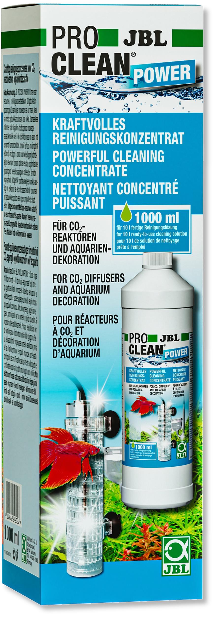 JBL ProClean Power 1 L concentré nettoyant pour réacteurs CO2 et décorations d\'aquarium