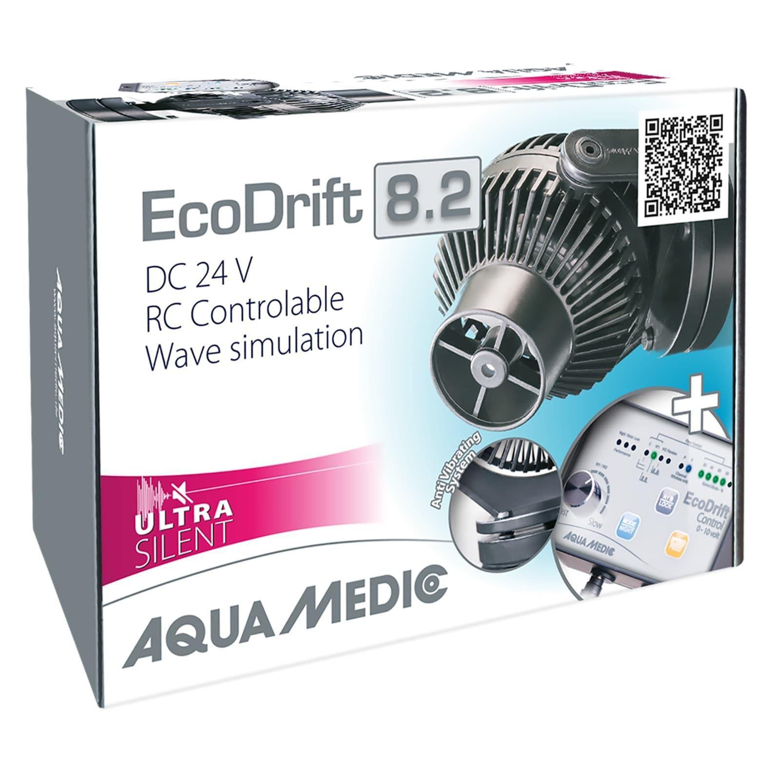 AQUA MEDIC ECODrift 8.2 Ultra Silent pompe de brassage 1600 à 8000 L/h avec contrôleur électronique pour aquarium jusqu\' à 800L