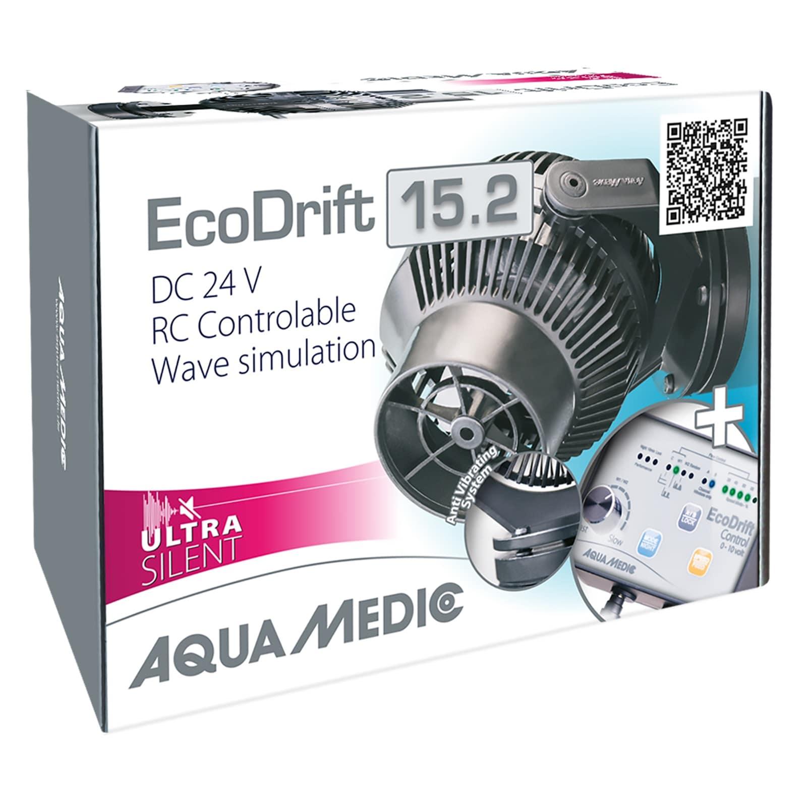 AQUA MEDIC ECODrift 15.2 Ultra Silent pompe de brassage 3000 à 15000 L/h avec contrôleur électronique pour aquarium jusqu\' à 1500L