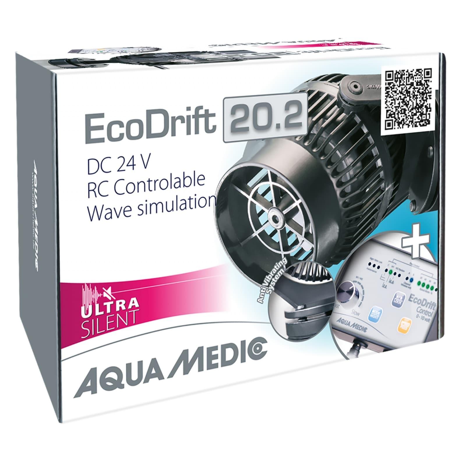 AQUA MEDIC ECODrift 20.2 Ultra Silent pompe de brassage 4000 à 20000 L/h avec contrôleur électronique pour aquarium jusqu\' à 2000L