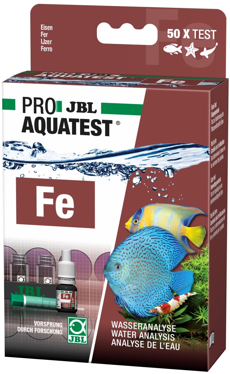 JBL ProAquaTest Fe test Fer pour aquarium d\'eau douce, eau de mer et bassin