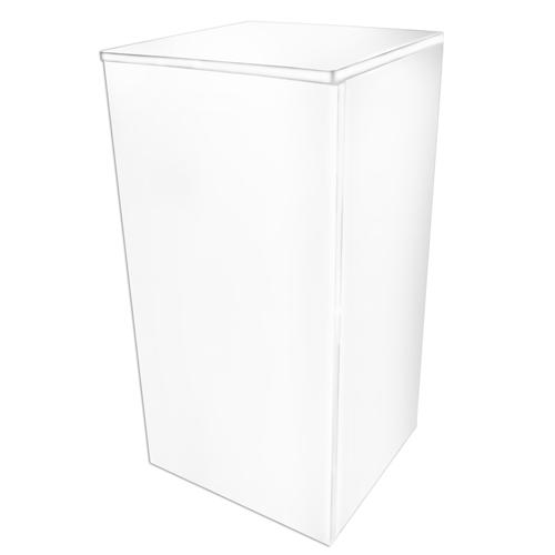DUPLA Meuble Cube Stand 80 Blanc pour aquarium jusqu\'à 45 x 45 cm