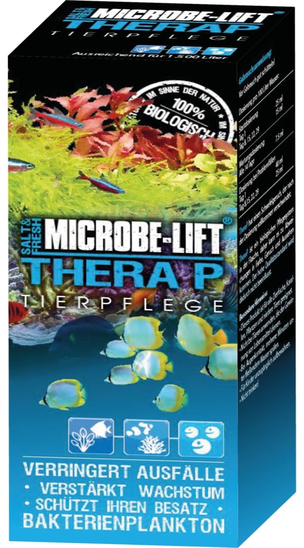 MICROBE-LIFT TheraP 473 ml bactéries probiotiques pour aquarium d\'eau de mer et d\'eau douce