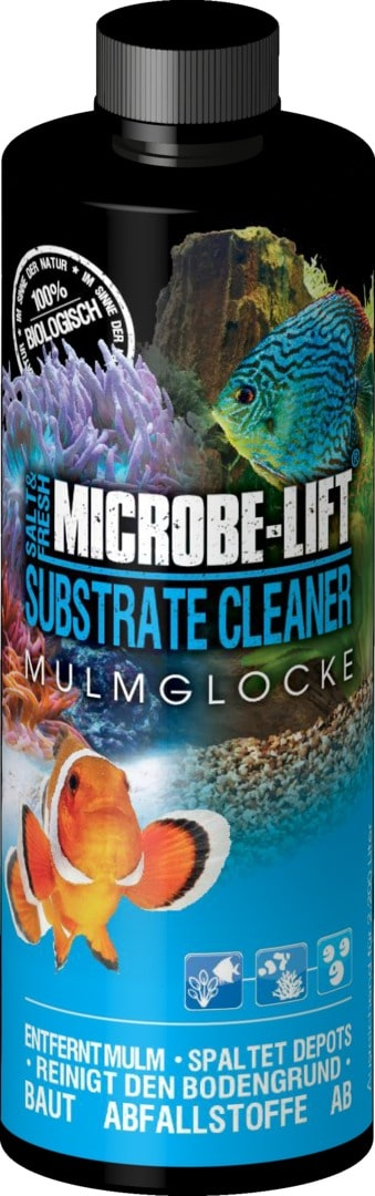 MICROBE-LIFT Substrate Cleaner 473 ml bactéries de nettoyage pour sol et roches en aquarium marin et d\'eau douce
