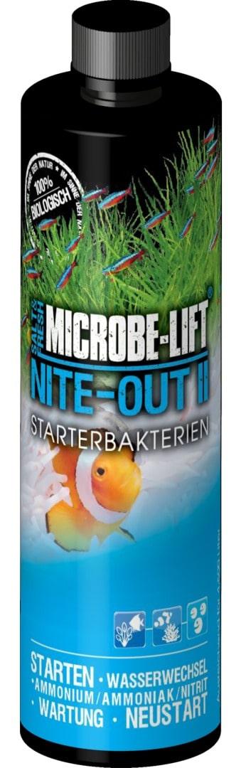 MICROBE-LIFT Nite-Out II 236 ml bactéries de démarrage pour aquarium d\'eau douce et d\'eau de mer