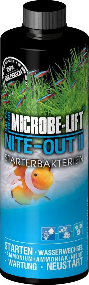 MICROBE-LIFT Nite-Out II 437 ml bactéries de démarrage pour aquarium d\'eau douce et d\'eau de mer