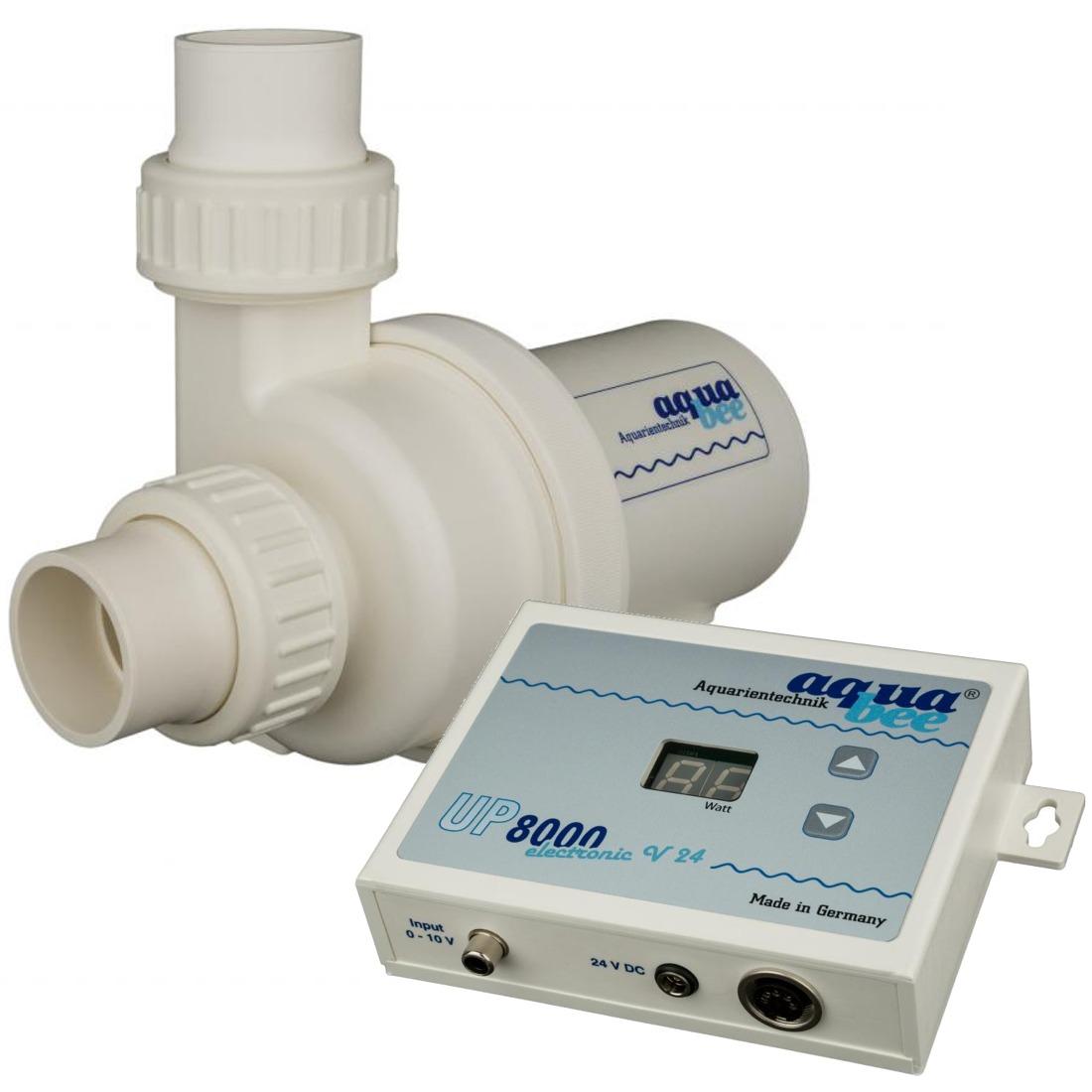 AQUABEE UP 8000e 24V pompe d\'aquarium 8000 L/h fonctionnement basse tension avec contrôleur électronique
