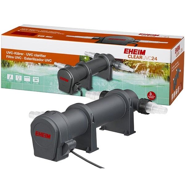 EHEIM Clear UVC-24 stérilisateur UV-C 24W pour l\'élimination de l\'eau verte dans les bassin jusqu\'à 26000 L