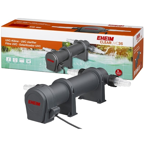 EHEIM Clear UVC-36 stérilisateur UV-C 36W pour l\'élimination de l\'eau verte dans les bassin jusqu\'à 36000 L