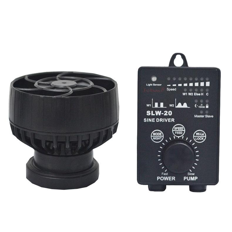 JEBAO SLW-20 pompe de brassage à ondes sinusoïdales avec flux extra-large jusqu\'à 10000 L/h et contrôleur Wireless pour aquarium