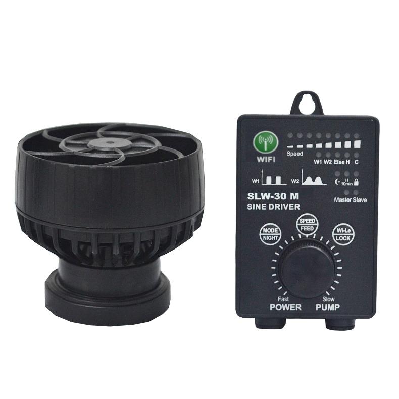 JEBAO SLW-30 M pompe de brassage à ondes sinusoïdales avec flux extra-large jusqu\'à 13000 L/h et contrôleur WiFi