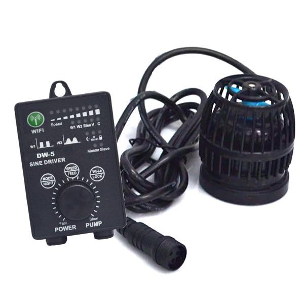 JEBAO DW-5 pompe de brassage puissante et ultra-compacte avec débit jusqu\'à 5000 L/h et contrôleur WiFi