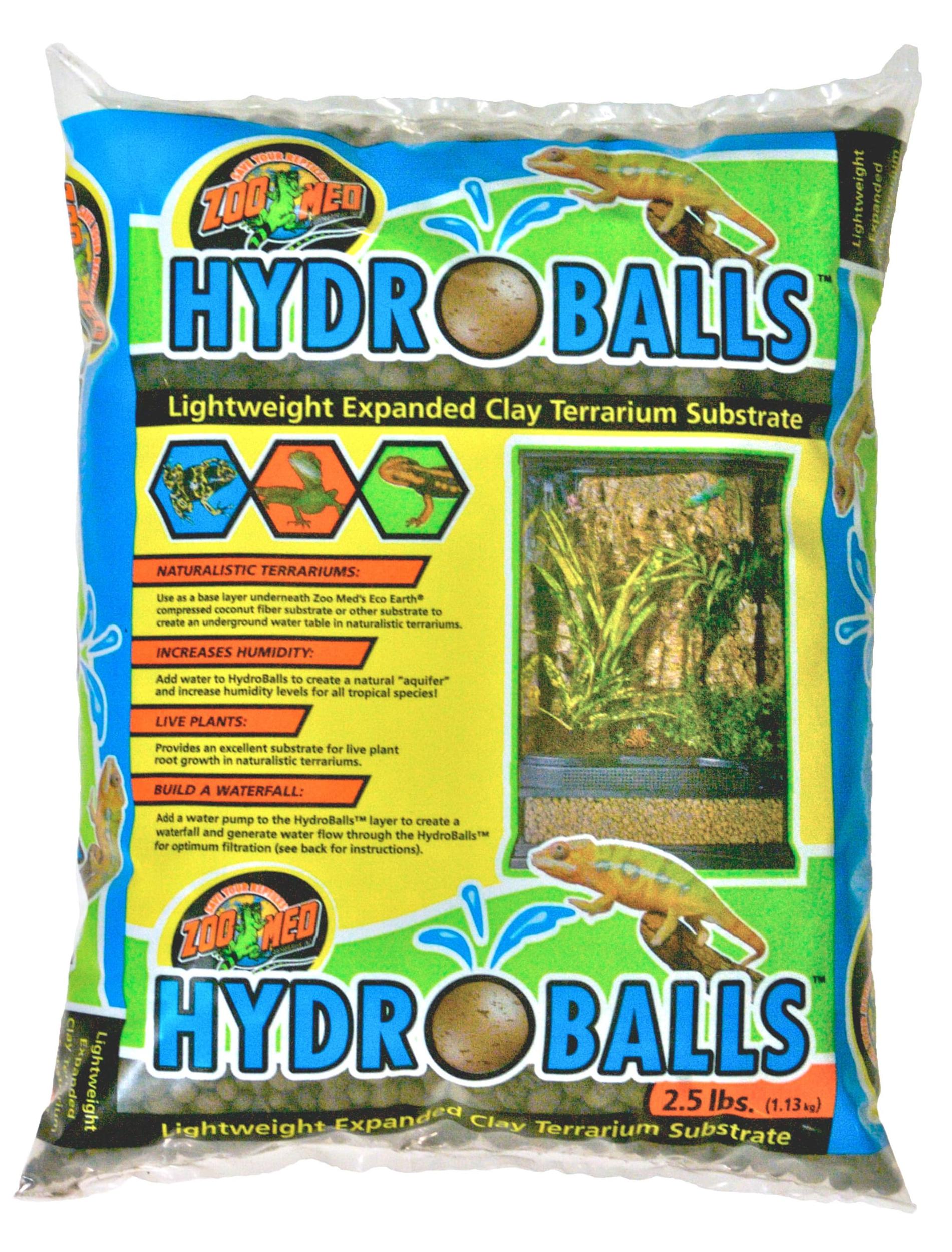 ZOOMED HydroBalls 1,13 Kg substrat d\'aquarium et terrarium léger à base d\'argile expansée