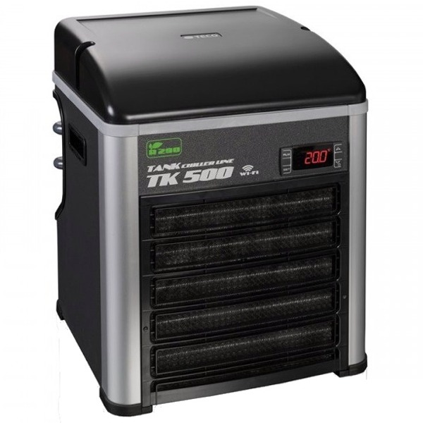 TECO TK500 G2 groupe froid refroidisseur d\'eau avec gaz éco R290 et Wi-Fi pour aquarium jusqu\'à 500 L