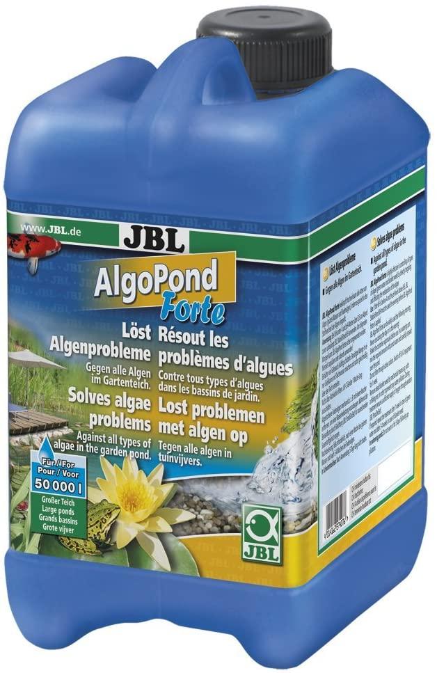JBL AlgoPond Forte 2,5 L produit anti-algues filamenteuses pour bassin jusqu\'à 50000 L