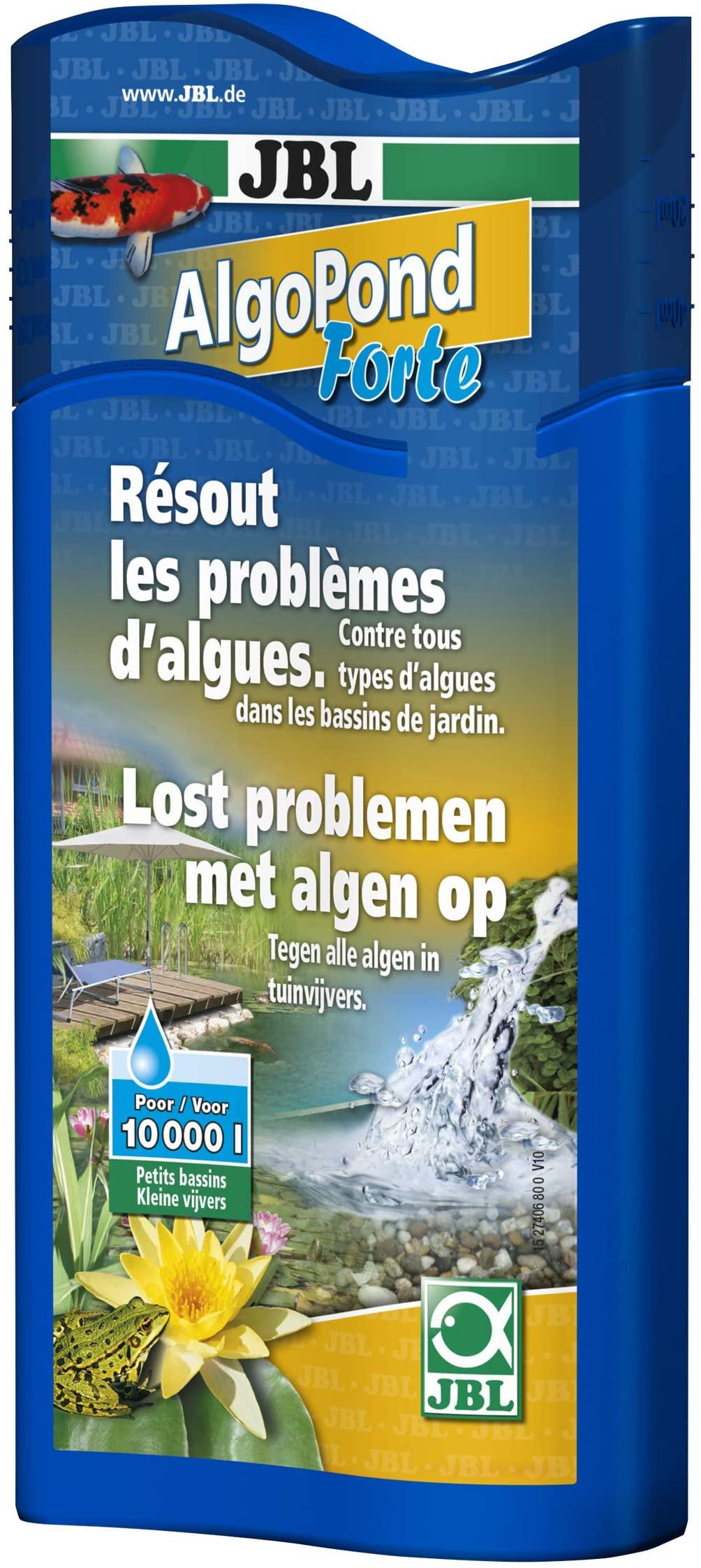 JBL AlgoPond Forte 500 ml produit anti-algues filamenteuses pour bassin jusqu\'à 10000 L