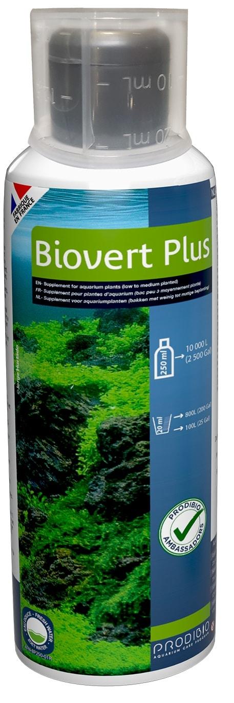 PRODIBIO BioVert Plus 250 ml engrais complet pour plante d\'aquarium. Traite jusqu\'à 10000 L