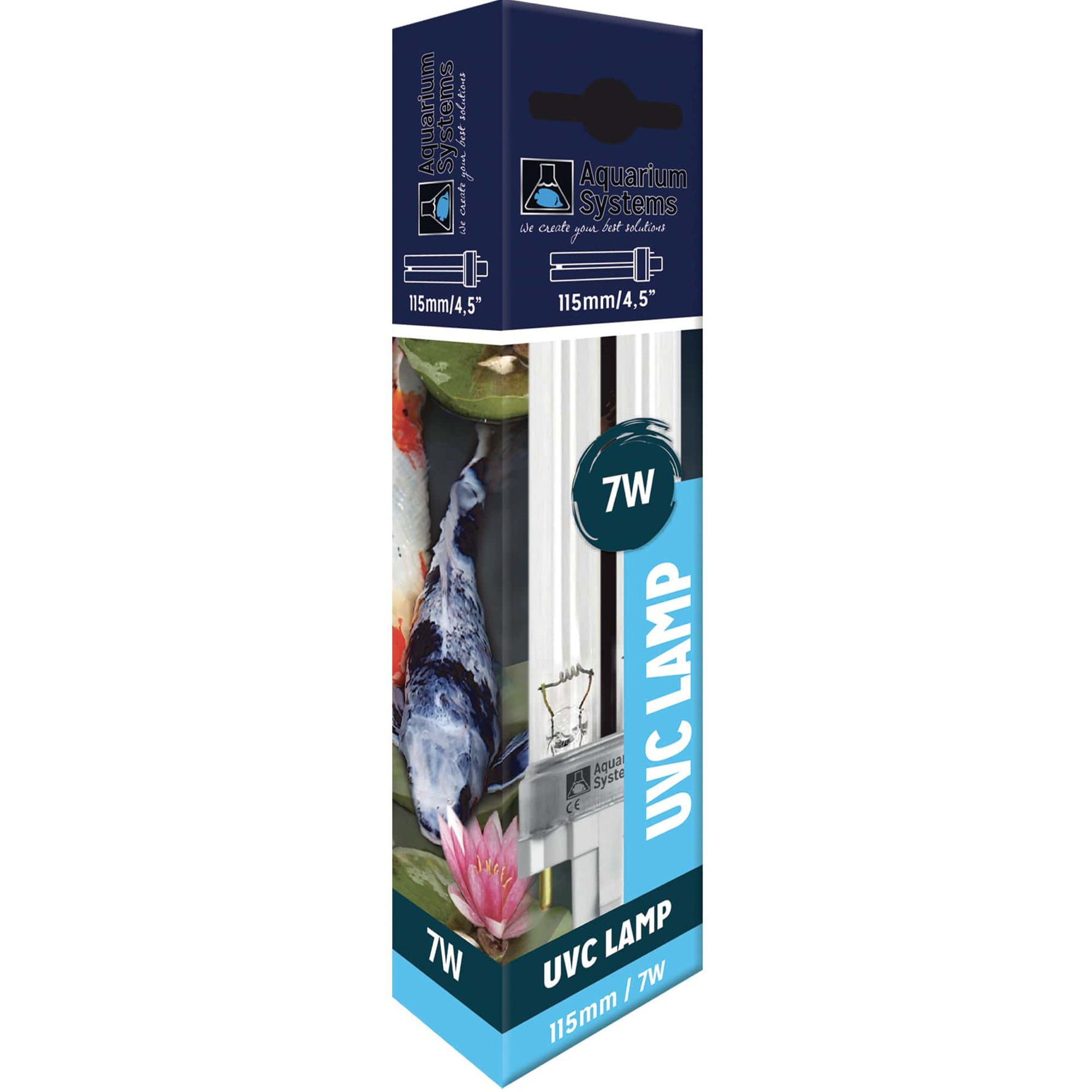 AQUARIUM SYSTEMS UVC Lamp 7W culot G23 ampoule compacte UV-C pour stérilisateur