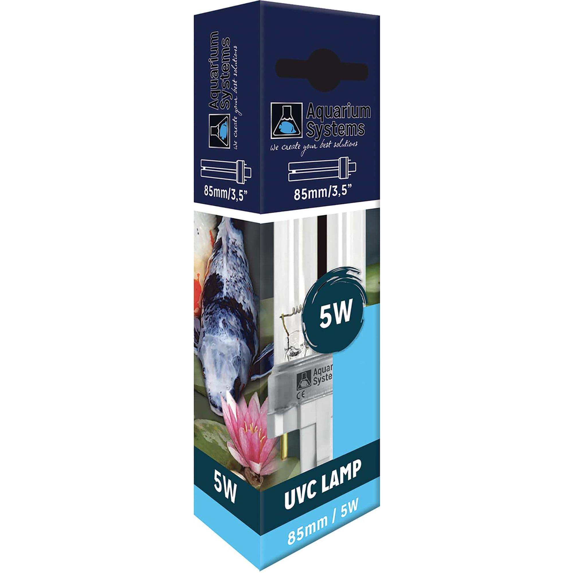 AQUARIUM SYSTEMS UVC Lamp 5W culot G23 ampoule compacte UV-C pour stérilisateur