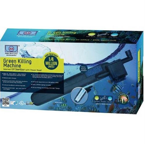 AA Green Killing Machine 24W stérilisateur UV-C interne pour aquarium d\'eau douce et d\'eau de mer jusqu\'à 400 L