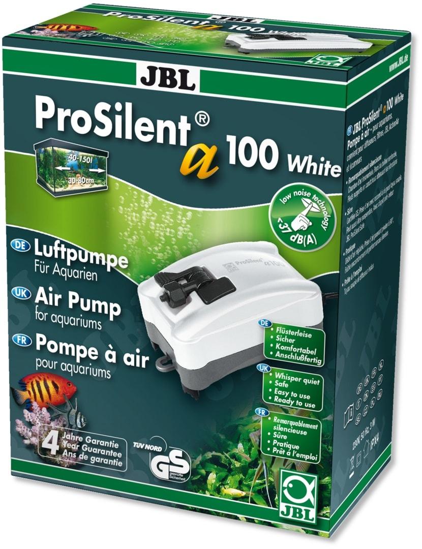 JBL ProSilent a100 White pompe à air silencieuse de 100L/h avec accessoires pour aquarium de 40 à 150L