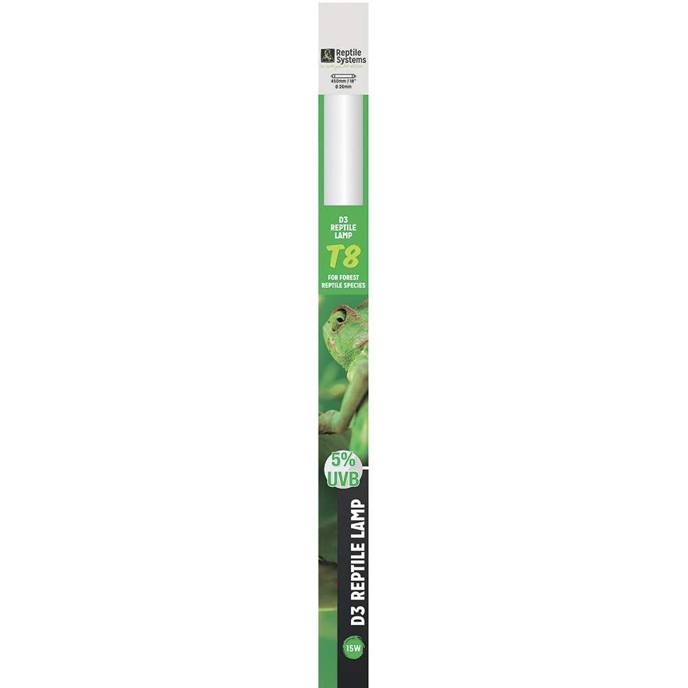 REPTILE SYSTEMS D3 Specialist UVB 5% tube T8 15W 45 cm pour espèces tropicales et sub-tropicales