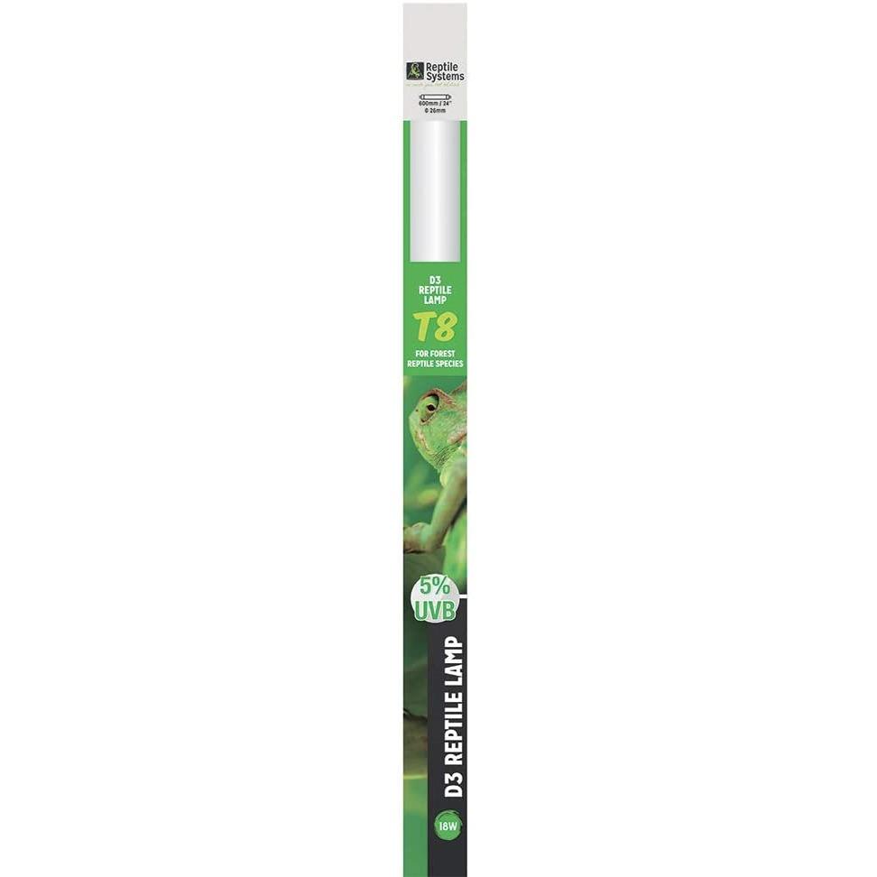 REPTILE SYSTEMS D3 Specialist UVB 5% tube T8 18W 60 cm pour espèces tropicales et sub-tropicales