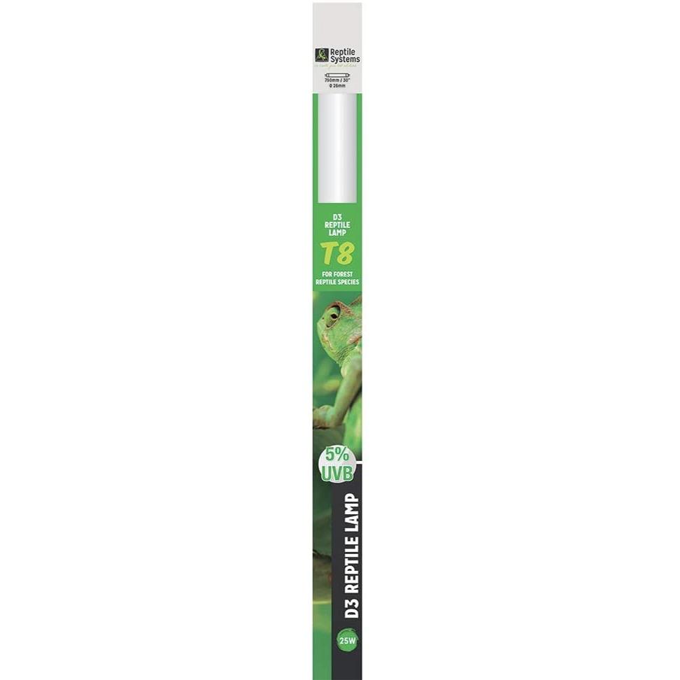 REPTILE SYSTEMS D3 Specialist UVB 5% tube T8 25W 75 cm pour espèces tropicales et sub-tropicales