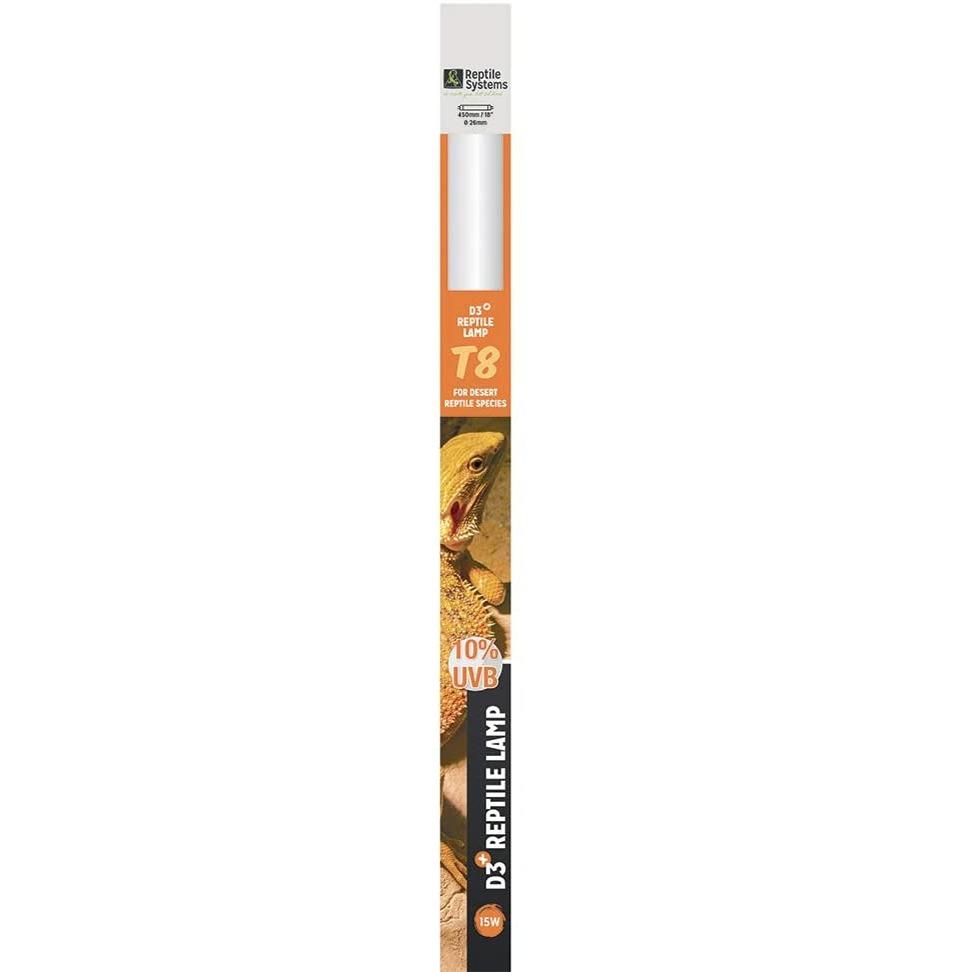REPTILE SYSTEMS D3 Specialist UVB 10% tube T8 15W 45 cm pour espèces désertiques