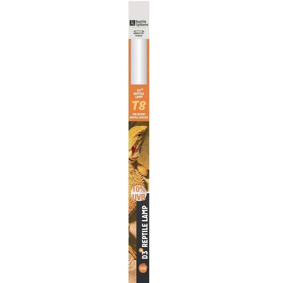 REPTILE SYSTEMS D3 Specialist UVB 10% tube T8 18W 60 cm pour espèces désertiques