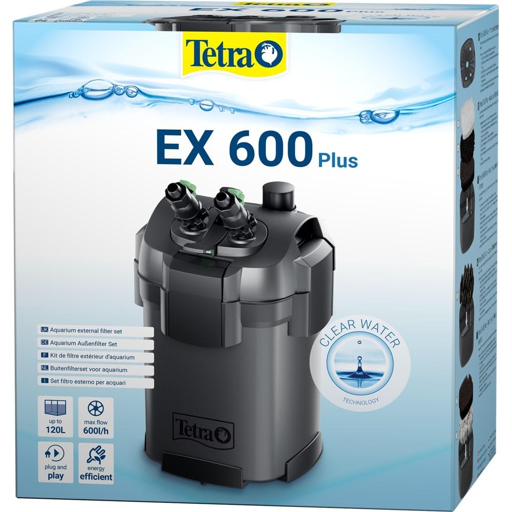 TETRA EX 600 Plus filtre externe 600 L/h performant et prêt à l\'emploi pour aquarium de 10 à 80 L