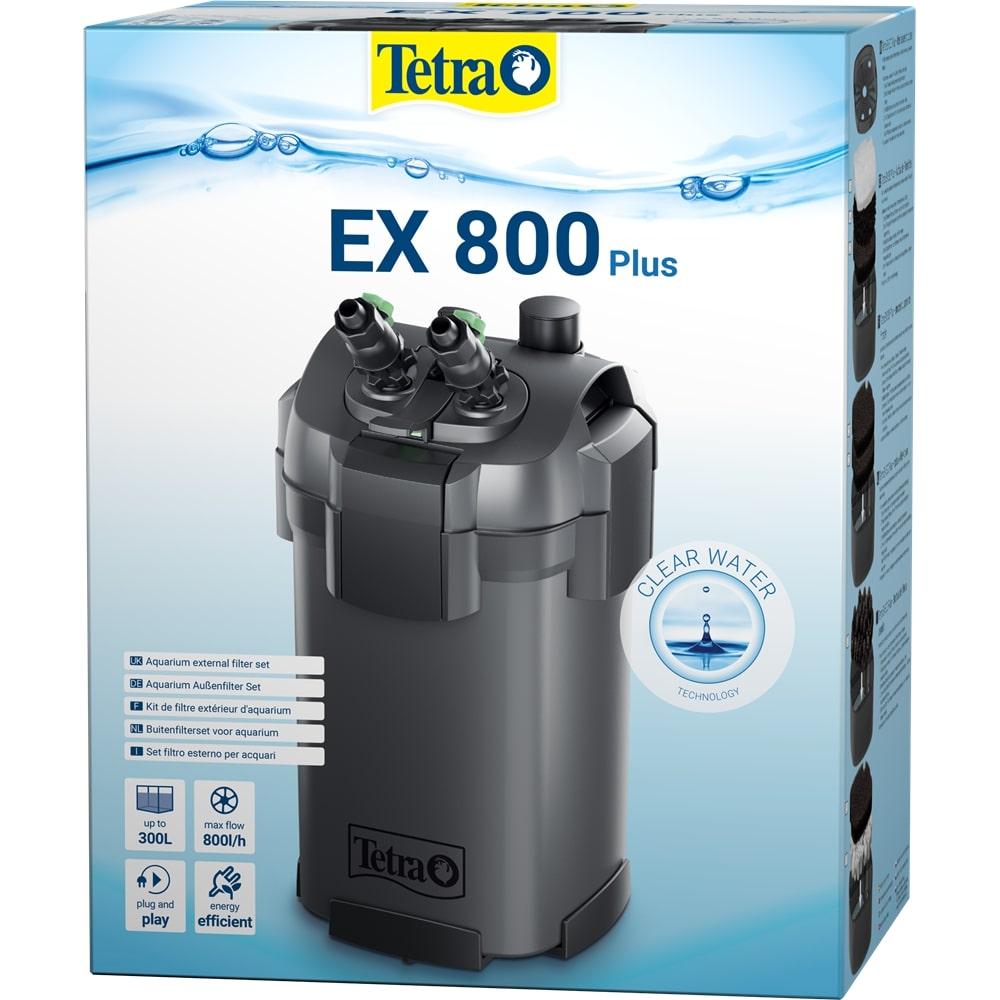 TETRA EX 800 Plus filtre externe 790 L/h performant et prêt à l\'emploi pour aquarium de 100 à 300 L
