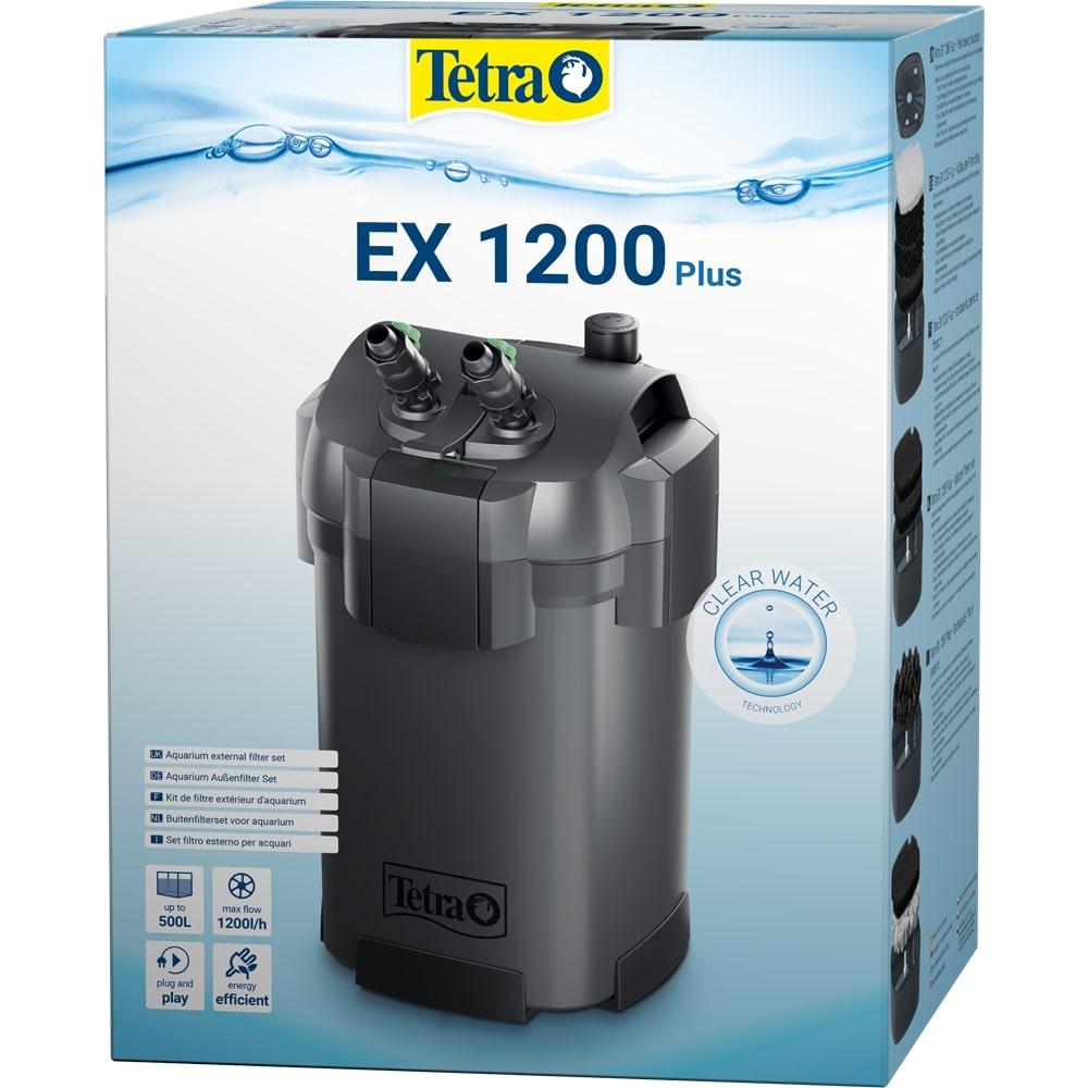 TETRA EX 1200 Plus filtre externe 1300 L/h performant et prêt à l\'emploi pour aquarium de 200 à 500 L