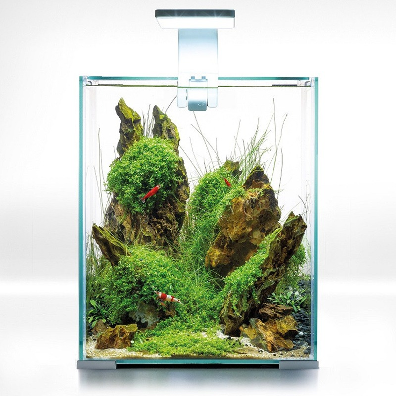 AQUAEL ShrimpSet Day & Night 20 Blanc nano-aquarium 19L tout équipé 25 x 25 x 30 cm