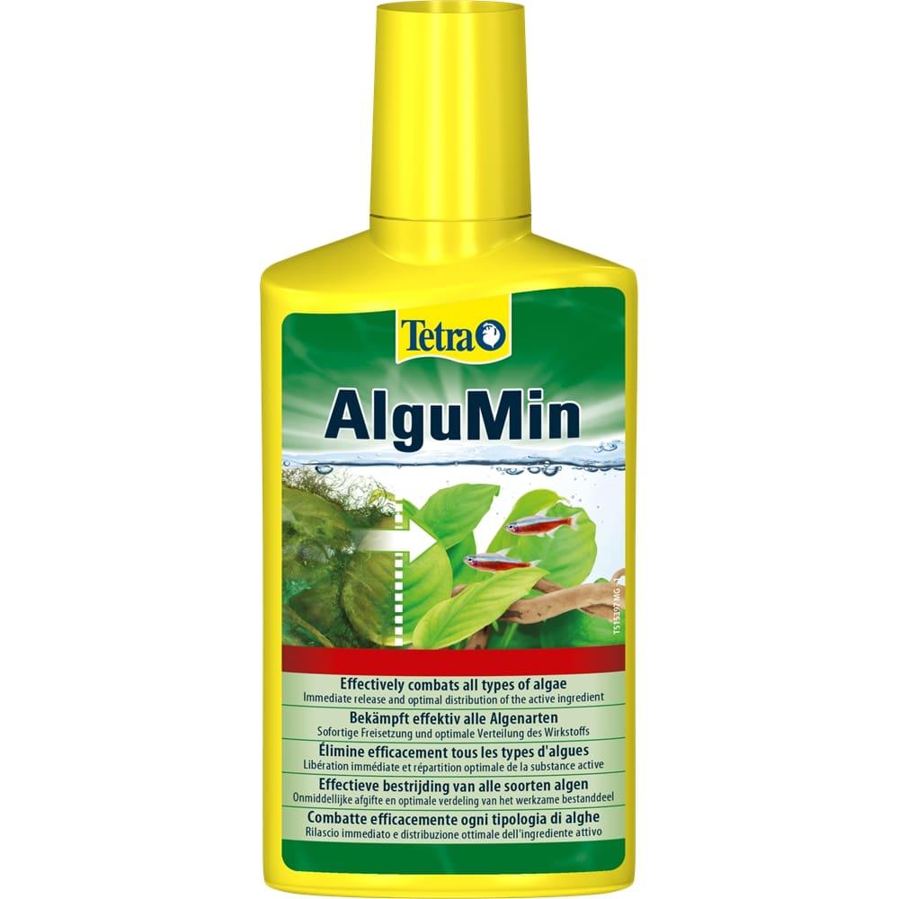 TETRA AlguMin 250 ml élimine en toute simplicité tous les mauvaises algues de l\'aquarium d\'eau douce