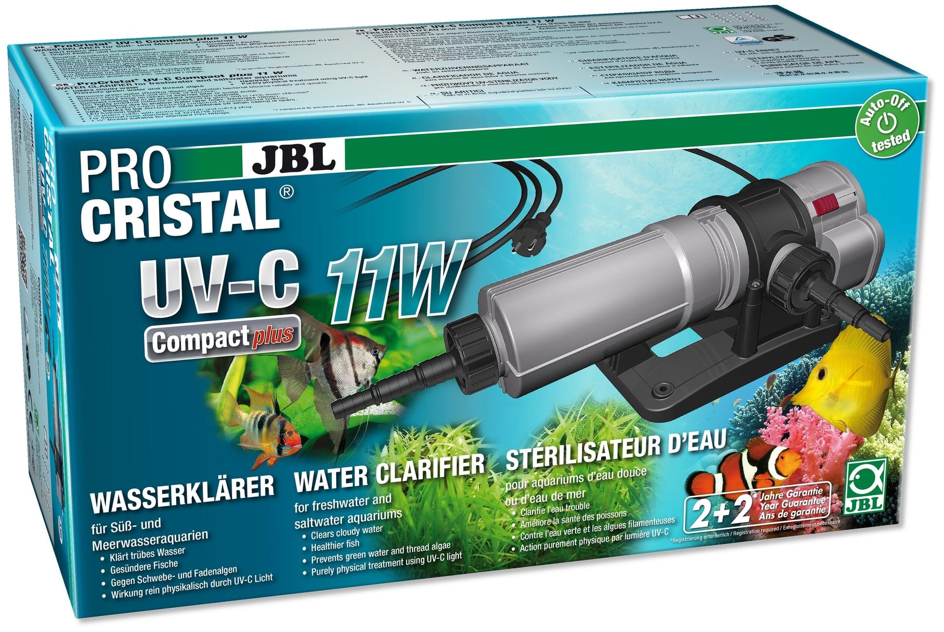 JBL ProCristal Compact Plus UV-C 11 W stérilisateur UV pour aquarium de 100 à 800 L
